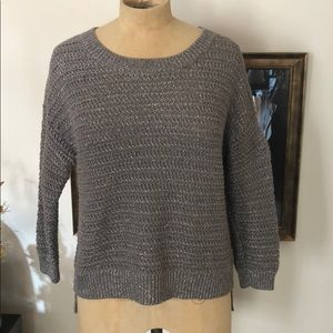 Gray sweater with silver lurex